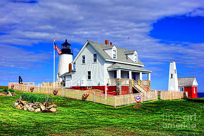 Keepers House Photograph - Pemaquid Point Postcard by Olivier Le Queinec