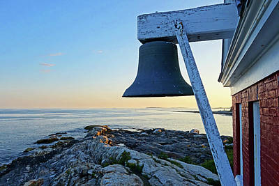Photograph - Pemaquid Point Sunset Bell Pemaquid Me by Toby McGuire