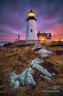 Photograph - Pemaquid Point Twilight by Benjamin Williamson