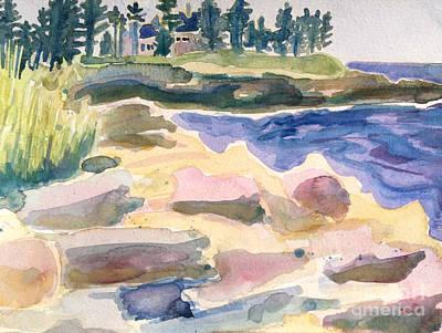 Painting - Pemaquid Point Watercolor by Debra Bretton Robinson