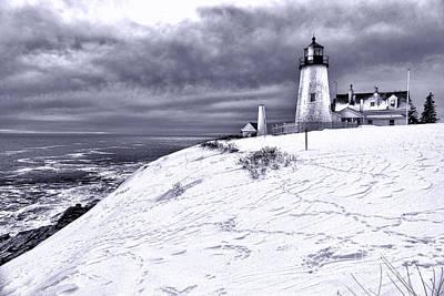 Pemaquid Point Winter Scene Art Print