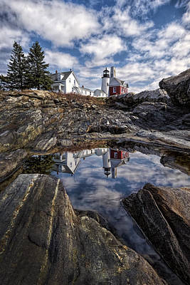 Popstar And Musician Paintings Royalty Free Images - Pemaquid Reflected Royalty-Free Image by Jaki Miller