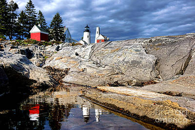 Keepers House Photograph - Pemaquid Reflection by Olivier Le Queinec