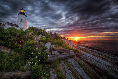 Photograph - Pemaquid Sunrise by Neil Shapiro