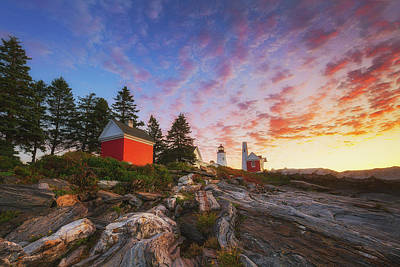 Photograph - Pemaquid Sunrise by Robert Clifford