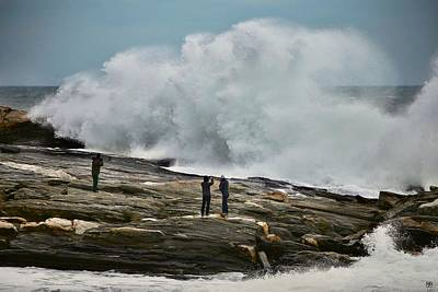Photograph - Pemaquid Surf by John Meader
