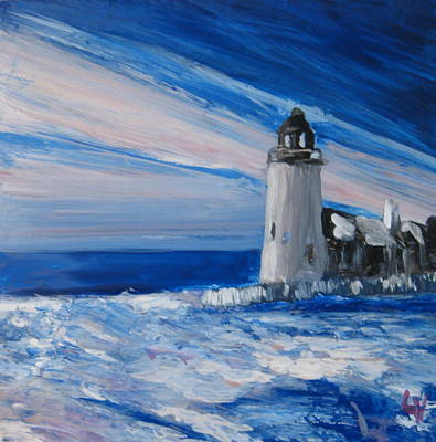 Pemaquid Winter Light Original by Lynne Vokatis