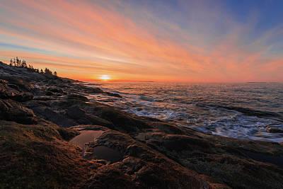 Photograph - Pemaquid's Sky On Fire by Jesse MacDonald