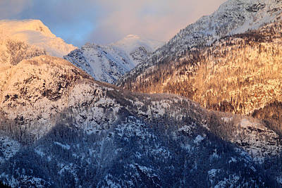 Photograph - Pemberton Mountains At Sunset by Pierre Leclerc Photography