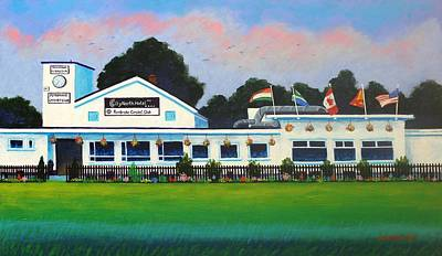 Rugby Painting - Pembroke Cricket Club - Dublin by John  Nolan