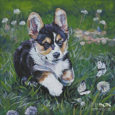 Painting - Pembroke Welsh Corgi Puppy by Lee Ann Shepard