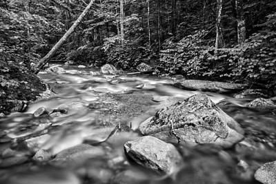 Photograph - Pemi River Black-white by Michael Hubley
