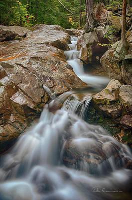 Photograph - Pemigewasset Cascade 8378 by Dan Beauvais