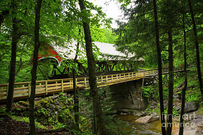 Photograph - Pemigewasset Covered Bridge by Alana Ranney