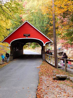 Photograph - Pemigwasett Covered Bridge by Catherine Gagne