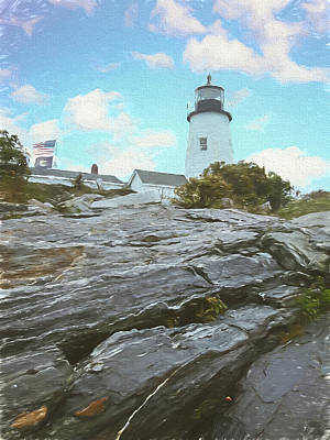 Photograph - Pemiquid Lighthouse In Maine. Watchers Of The Sea. by Rusty R Smith