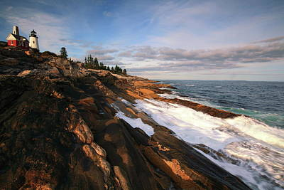 Photograph - Pemaquid Point Lighthouse Seascape by Roupen  Baker