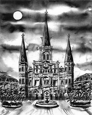 Painting - Pen And Ink Cathedral by Catherine Wilson