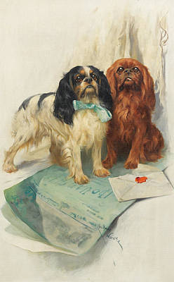 Pooch Painting - Pen Friends by Arthur Wardle
