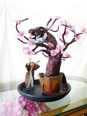 Sculpture - Pen-jing Dragon Plum Tree by Francesa Miller