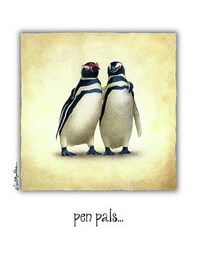 Pals Painting - Pen Pals... by Will Bullas