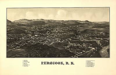 Penacook New Hampshire 1887 Art Print by Mountain Dreams