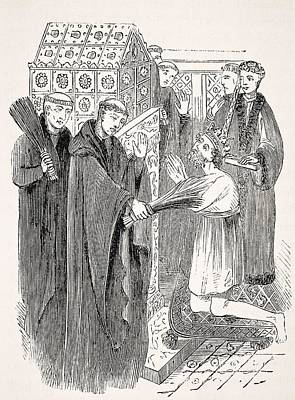 Thomas Becket Drawing - Penance Of Henry II At Thomas Beckets by Vintage Design Pics