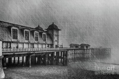 Photograph - Penarth Pier Mono by Steve Purnell