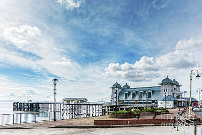 Photograph - Penarth Pier Morning Light 1 by Steve Purnell
