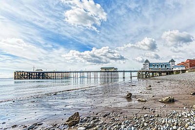 Photograph - Penarth Pier Morning Light 2 by Steve Purnell