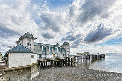 Photograph - Penarth Pier Morning Light 3 by Steve Purnell