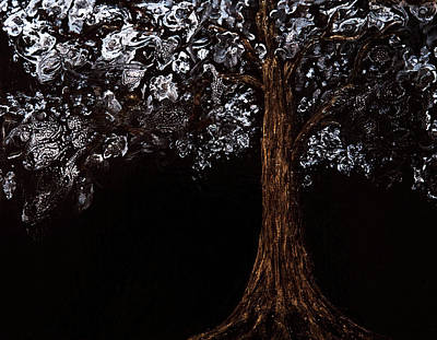 Painting - Pebeo Moonlit Tree by Patricia Beebe