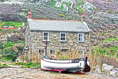 Photograph - Penberth Cove Boat by Terri Waters