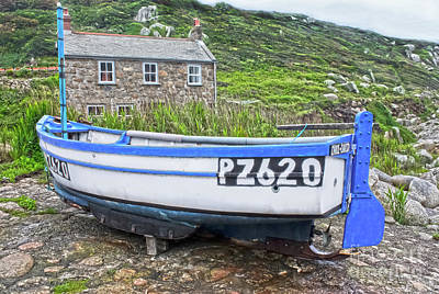 Photograph - Penberth Fishing Boat by Terri Waters