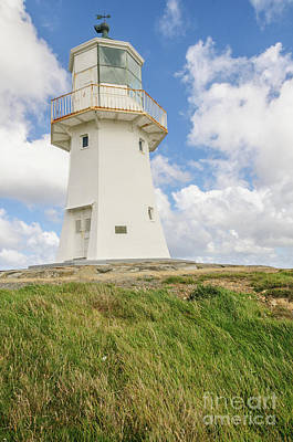 Photograph - Pencarrow Head Upper Lighthouse by Werner Padarin