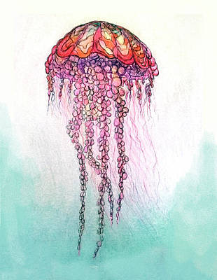 Painting - Pencel_jellyfish1 by Martin Hardy