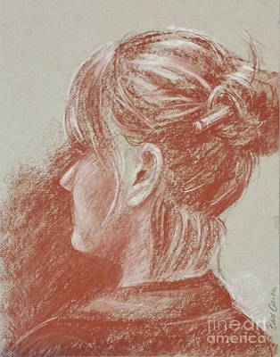 Drawing - Pencil Bun by Barbara Oertli