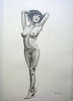 Pencil Nude 14 Art Print