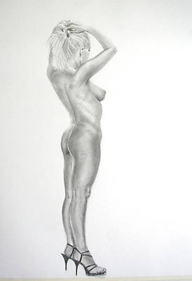 Pencil Nude 16 Art Print
