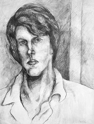 Drawing - Pencil Portrait by Art Cole