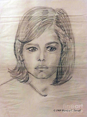Drawing - Pencil Portrait Sketch by Monica C Stovall