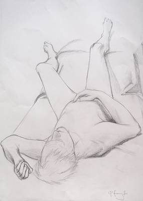 Drawing - Pencil Sketch February 2011 by Mira Cooke