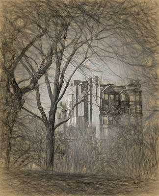 Drawing - Pencil Sketch Of Beacon Hill by Thomas Logan