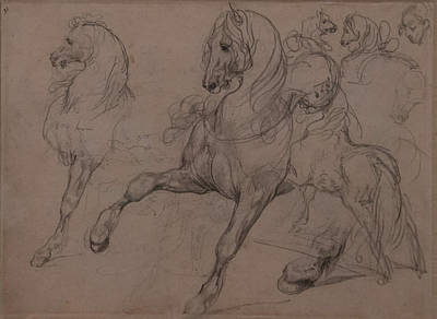 Gericault Photograph - Pencil Sketches Of Horses by Thomas Morris