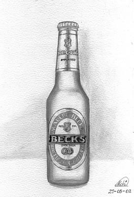 Beer Drawings - Pencil Work For My Art School by Alban Dizdari