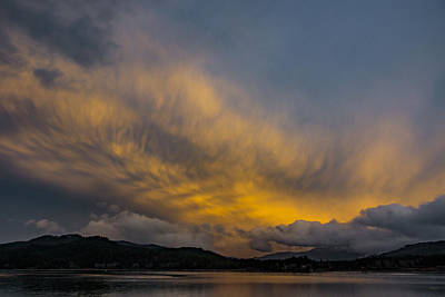 Photograph - Pend Oreille River Sunset 1 by Albert Seger