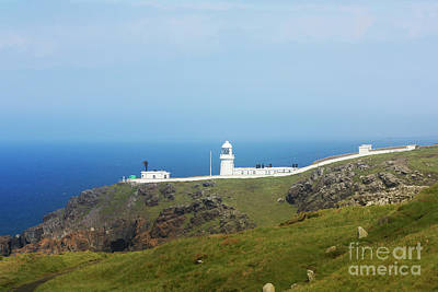Photograph - Pendeen Lighthouse North Cornwall by Terri Waters