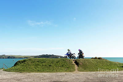 Photograph - Pendennis Point Bikers by Terri Waters