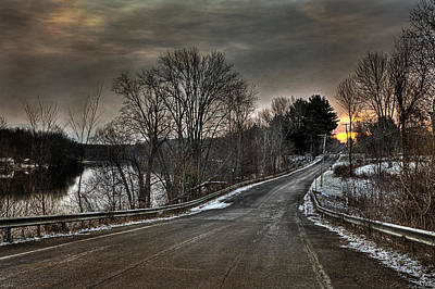 Winter Roads Photograph - Pendergast Road by Everet Regal