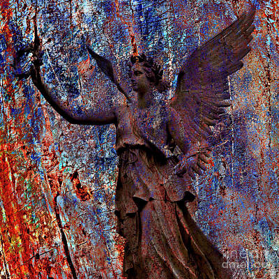 Mapping Mixed Media - Pending Victory Goddess Victoria by Silva Wischeropp